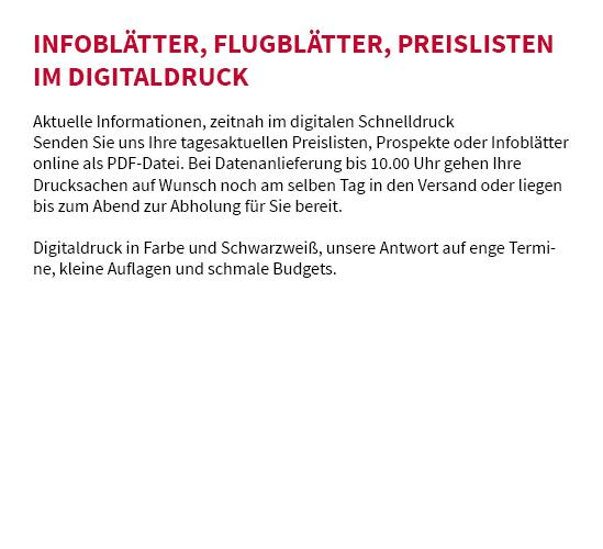 Digitaldruck in  Schöntal