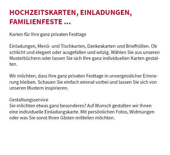 Einladungen drucken aus  Birenbach